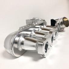 Впускной коллектор фрезерованный - Nissan Silvia SR20DET - c дросселем 76мм и топливной рейкой - Полированный