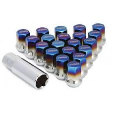 Гайки - RAYS - Forged Titanium Blue Lug - M12x1.25 (сталь)