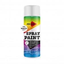 Краска-спрей белая матовая AIM-ONE 450 мл (аэрозоль)