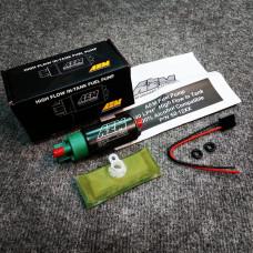 Насос топливный - AEM - 320 л/ч (с установочным комплектом для EVO X / STi GRB / R35 GT-R / BR-Z (бензин, этанол E100, метанол M100) США