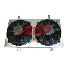 Диффузор алюминиевый для радиатора - Mazda RX7 (с вентиляторами)