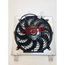 Диффузор алюминиевый для радиатора - Honda Civic (92-02) (с вентилятором)