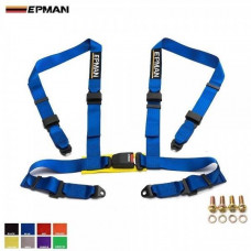 Ремни безопасности - EPMAN - 4 точки (разные цвета)