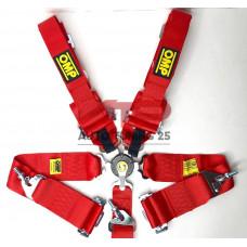 Ремни безопасности - OMP 76-50мм - 5 Точек (красный)