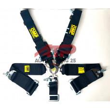 Ремни безопасности - OMP 76-50мм - 5 Точек (черный)