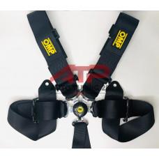 Ремни безопасности - OMP SFI 76-50м - 6 точек (черный)