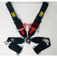 Ремни безопасности - OMP style 76-50мм - 4 точки (разные цвета)