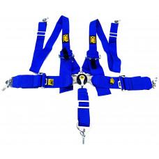 Ремни безопасности - OMP 76-50мм - 5 Точек (синий)