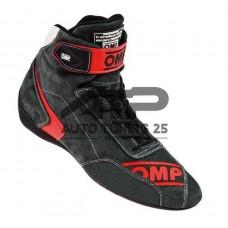 Ботинки спортивные замшевые для авто спорта - OMP style - черные