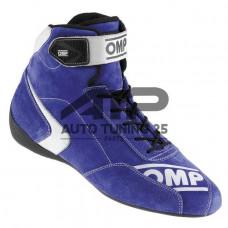 Ботинки спортивные замшевые для авто спорта - OMP style - синие