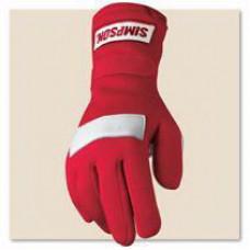 Перчатки спортивные для авто спорта -  Simpson - Posi Grip красные
