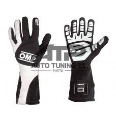 Перчатки спортивные для авто спорта - OMP style - черные