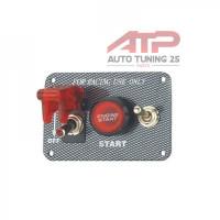 Панель зажигания с 2 тумблерами и красной кнопкой(под карбон)