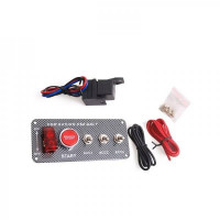 Панель зажигания с 4 тумблерами и красной кнопкой(под карбон)