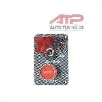 Панель зажигания с 1 тумблером и красной кнопкой(под карбон)