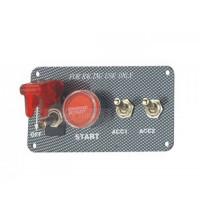 Панель зажигания с 3 тумблерами и красной  кнопкой(под карбон)