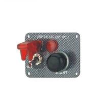 Панель зажигания с 1 тумблером и чёрной кнопкой(под карбон)