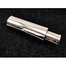 Бочка HKS Chrome style 63мм - Универсальный глушитель прямоточный 52см