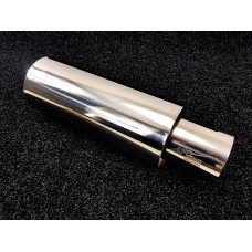 Бочка HKS Chrome style 51мм - Универсальный глушитель прямоточный 51см