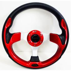 Руль MOMO Style - без выноса - 320мм (пластик под кожу/красный)